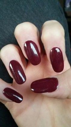 #deepred #nails