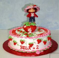 strawberry shortcake kids cake | Kathy's Keative Kakes - Strawberry Shortcake Cake