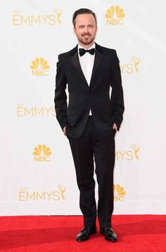 Aaron Paul was living the post-Jesse Pinkman lifestyle. | The Guys Were Also Bringing It At The Emmys   2014 emmys.