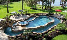 Resultado de imagem para small pool with hot tub