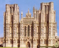 Fachada occidental de la Catedral de Wells. S.XIII. Early gothic.