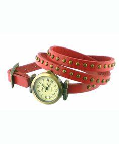 Vintage Look Wrap Watch Red - LAVISHY Boutique