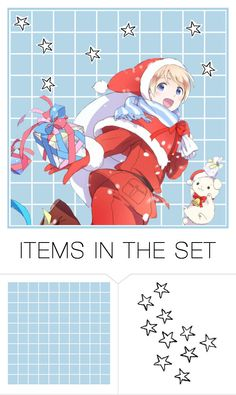 """""""merry christmas and happy holidays everyone! c:"""" by akihabara ❤ liked on Polyvore featuring art"""