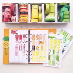 myplanningadventure: Anyone else inventory their Washi? I would love to see it or any other Washi post-- tag me or #washiwednesday ❤️ I've been organizing a lot as I find it's the best way to keep me from buying more. I used monthly inserts from @theplannermarket they are just the right size and look beautiful when all filled up. #plannerorganization #washitape #filofax