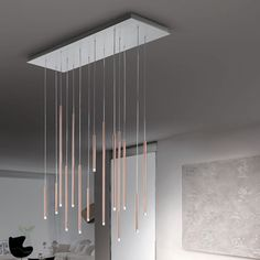 A-Tube Nano Pendant Light by Studio Italia Design is curated in a very contemporary design-as thin as a pin. Suspended Lighting, Cool Lighting, Modern Lighting, Lighting Design, Pendant Lamp, Pendant Lighting, Small Canopy, Italia Design, Concrete Lamp