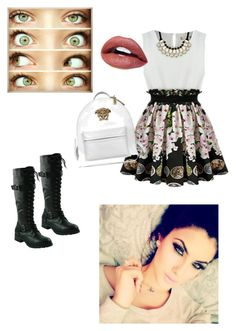 """""""green eyes"""" by itsgracie18 ❤ liked on Polyvore featuring Versace"""