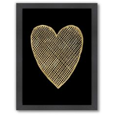 Americanflat ''Crosshatched Heart'' Framed Wall Art by Amy Brinkman,... ($66) ❤ liked on Polyvore featuring home, home decor, wall art, art, black, vertical wall art, heart wall art, black framed wall art, heart home decor and black home decor