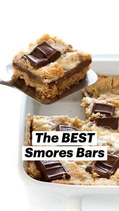 Easy Desserts, Easy Delicious Desserts, Easy Dessert Bars, Smores Dessert, Smores Cake, Easy Chocolate Desserts, Smores Cookies, Easy Sweets, Bar Cookies