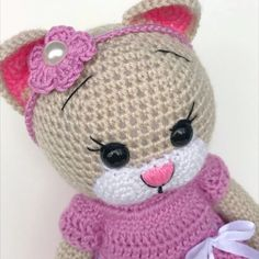 Mesmerizing Crochet an Amigurumi Rabbit Ideas. Lovely Crochet an Amigurumi Rabbit Ideas. Crochet Cat Toys, Crochet Cat Pattern, Crochet Animal Amigurumi, Crochet Doll Clothes, Crochet Bunny, Crochet Toys Patterns, Cute Crochet, Stuffed Toys Patterns, Crochet Designs