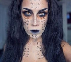 Spooky and Simple Makeup Idea for Halloween