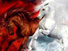 caballos pura sangre corriendo en el mar - Buscar con Google