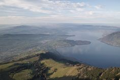 View from Rigi over lake Zug