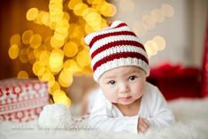 Baby first Christmas photo tip. Camera and post processing tips included!  Awww ... So adorable. : )