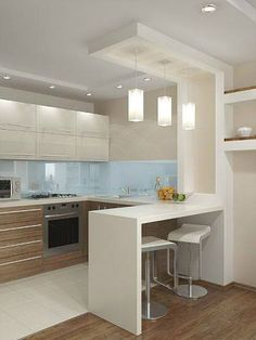 10 Styles Perfect for the small kitchen # Kitchen Faucets # Kitchen Lighting # Kitchen . - Home sweet Home - # for # kitchen . Kitchen Room Design, Kitchen Cabinet Design, Modern Kitchen Design, Kitchen Layout, Home Decor Kitchen, Interior Design Kitchen, Home Kitchens, Kitchen Ideas, Kitchen Inspiration