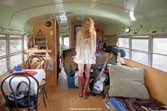 Cedar House Photography-I could live in this bus School Bus Rv, School Bus Conversion, Bus Living, Living On The Road, Living Room, Best Interior, Interior Design, Converted Bus, Vanz