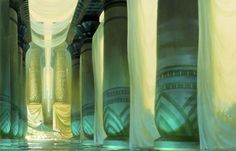 Concept artwork done by Paul Lasaine & his fellow illustrators for the 1998 DreamWorks film, The Prince of Egypt.