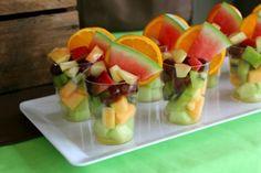Dinosaur Party - Fruit cups @ lovethatparty.com.au