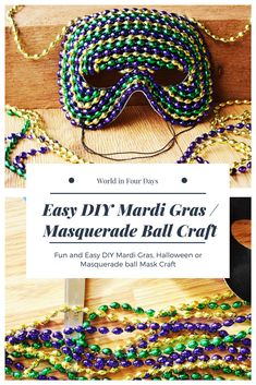It's time for Mardi Gras. Check out this Mardi Gras theme project. You kids will love using these plain masquerade masks for decorating and dress up. Sewing For Kids, Diy For Kids, Mardi Gras Decorations, Holiday Decorations, Mardi Gras Beads, Blog Love, Masquerade Ball, Diy Mask, Project Ideas