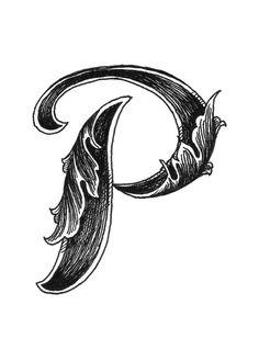 Leaf Script P Art Print by hannahscully Tattoo Lettering Fonts, Hand Lettering Alphabet, Monogram Alphabet, Calligraphy Alphabet, Lettering Styles, Lettering Design, Script Alphabet, P Letter Design, Alphabet Design