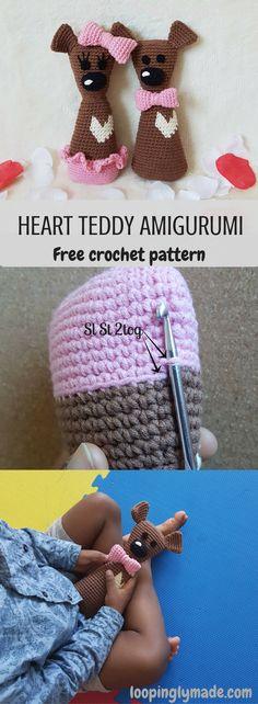 Heart Teddy Amigurumi is your next crochet BFF- Bear Friend Forever. Try him!