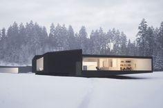 WOJR's Geometric Twin Houses Sit Among the New York Pine Trees | Highsnobiety