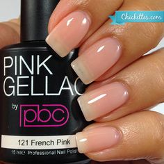 #121 Pink Gellac French Pink :: Gel Polish Colors :: Chickettes Boutique