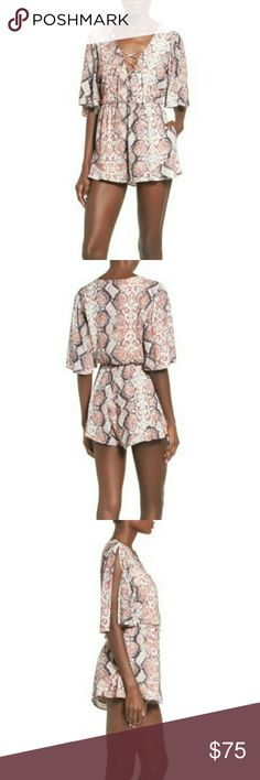 BNWT Lovers + Friends Epiphany romper Dangerously sexy - you will turn heads in this sweet little romper. Don't miss out! New, with tags from Bloomingdale's. Lovers + Friends Other