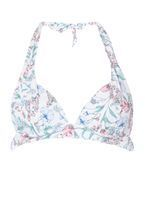Womens *Floral Print Halter Neck Bikini Top- Multi Colour