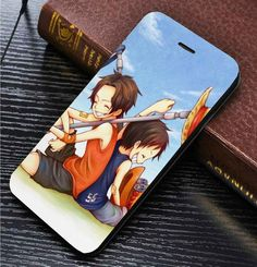 Ace and Luffy One Piece custom wallet case for iphone 4,4s,5,5s,5c,6,6 plus,7 and samsung galaxy s3,s4,s5,s6,s7 - LSNCONECALL.COM