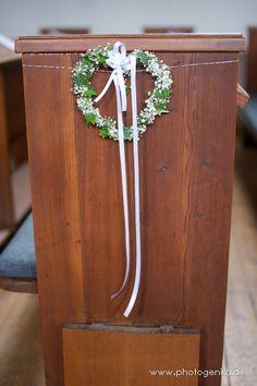 Hochzeit Kirchenschmuck gebundenes Herz