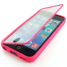 For Apple IPhone 5C Colorful TPU Wrap Up Case Cover W Built In Screen Protector