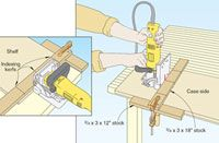 Using scraps, build a T-square biscuit joiner to make woodworking even easier. T-square Biscuit Joiner Jig Woodworking Skills, Woodworking Workshop, Woodworking Plans, Woodworking Essentials, Furniture Projects, Wood Projects, Carpentry Projects, Biscuit Joiner, Woodsmith Plans