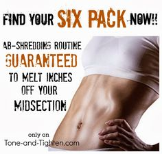 Find your six-pack now with this ab-shredding routine. #workout from Tone-and-Tighten.com