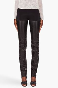 relaxed leather leggings