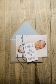 Photo + Letterpress Birth Announcement, birth announcements, twine