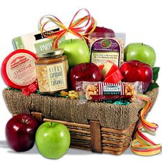 """An Apple A Day"" Fruit Gift Basket"