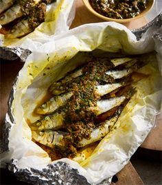 Sardines 'a la plancha' with sherry, chermoula & orange   Karen Martini Cooking 'a la plancha' basically means cooking on a metal plate and is a classic Spanish method of grilling. This version uses a pan to simulate the effect of the flat grill and was suggested by my trusted deputy chef, Emma who has spent a lot of time cooking (and eating) in Spain.