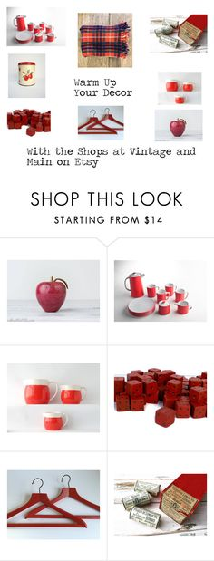 """""""Warm Up Your Decor"""" by vintagelittlegypsy on Polyvore featuring interior, interiors, interior design, home, home decor, interior decorating and vintage"""