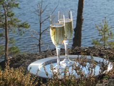 Champagne Bar at Lake Saimaa, Savonlinna Champagne Bar, Feeling Well, White Wine, Feel Better, Finland, Alcoholic Drinks, Tableware, Glass, Life