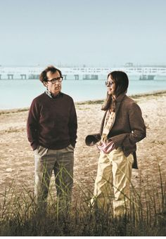 Woody Allen and Diane Keaton in Annie Hall.