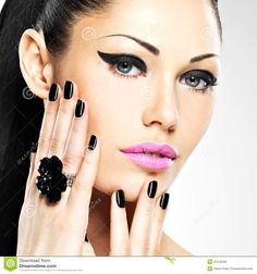 face-beautiful-woman-black-nails-pink-lips-sexy-sexy-girl-fashion-makeup-31576258.jpg (1300×1390)