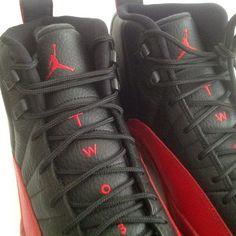 99803d47de6198 Air Jordan XII 12 Flu Game Retro Black Red