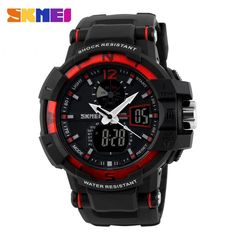 Jam Tangan Pria SKMEI Dual Time Military Men Original AD1040 Merah d076a00454