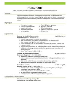 Resumen Samples Customer Service Resume Professional  Resume Example  Pinterest .