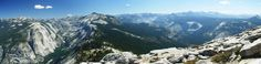 Yosemite. Panorama from Glacier Point (Half Dome, Nevada and Vernal Falls)