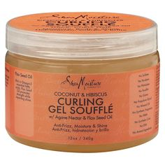 SheaMoisture's Coconut & Hibiscus Curling Gel Soufflé for thick, curly hair defines and promotes curls with a soft, smooth finish. This all natural styling aid moisturizes and conditions while leaving hair with a frizz-free, brilliant shine. Natural Hair Twists, Natural Hair Care, Natural Hair Styles, Curl Enhancing Smoothie, Healthy Oils, Healthy Hair, Green Tea Extract, 4c Hair, Twist Outs