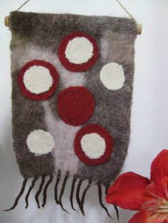Recycled wool art Rickety Gates - Urban Dots