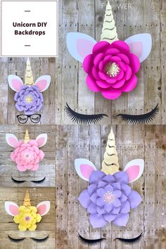 Birthday Party Options – Creative Birthday Party Ideas That Works Diy Unicorn Birthday Party, First Birthday Parties, Birthday Party Decorations, First Birthdays, Unicorn Lashes, Unicorn Face, Giant Flowers, Paper Flowers, Unicorn Baby Shower