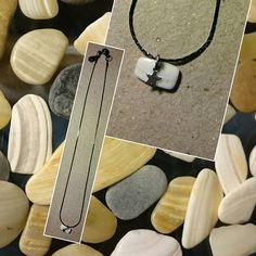 La suite un #collier / #necklace LARA teinte #sphinx (noir argenté)  et son petit frère en #coquillages / #shells