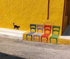 The Nicest Pictures: Street Art 3d Street Art, Street Art Graffiti, Amazing Street Art, Street Artists, Graffiti Artists, Urbane Kunst, Foto Poster, Sidewalk Art, Outdoor Art